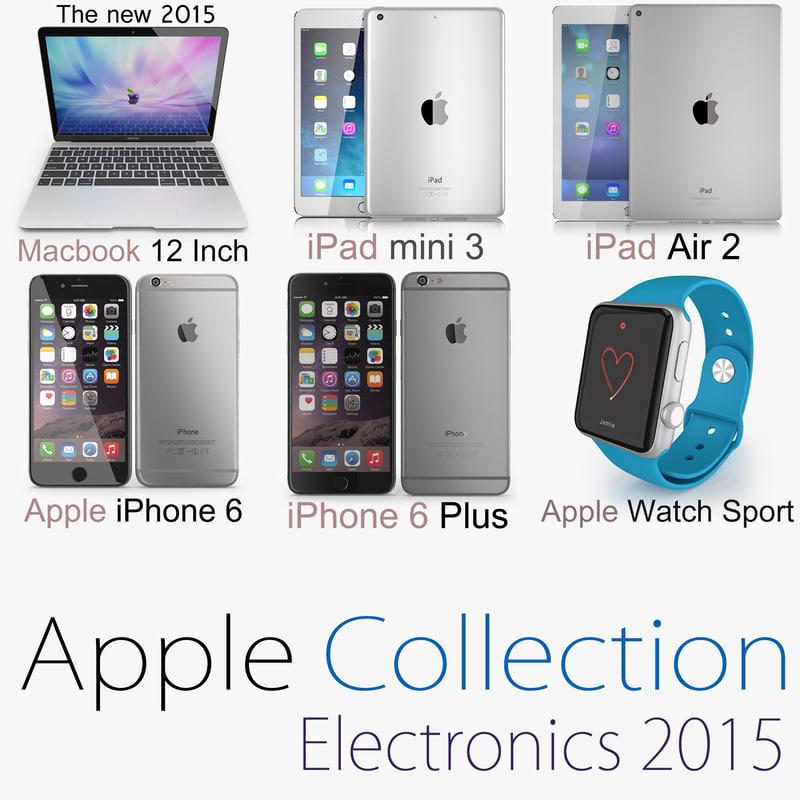 3d model colection apple 2 2015