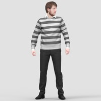 realistic human 3d 3ds