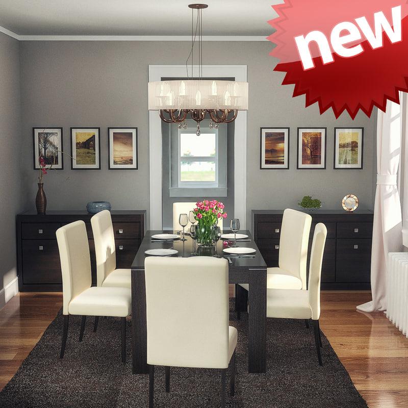 3d model dining room interior