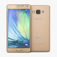 3d samsung galaxy a7 champagne model