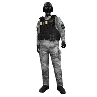 rigged swat soldier 2 3d max