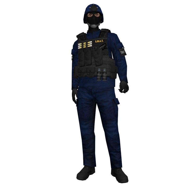 3d rigged swat soldier model