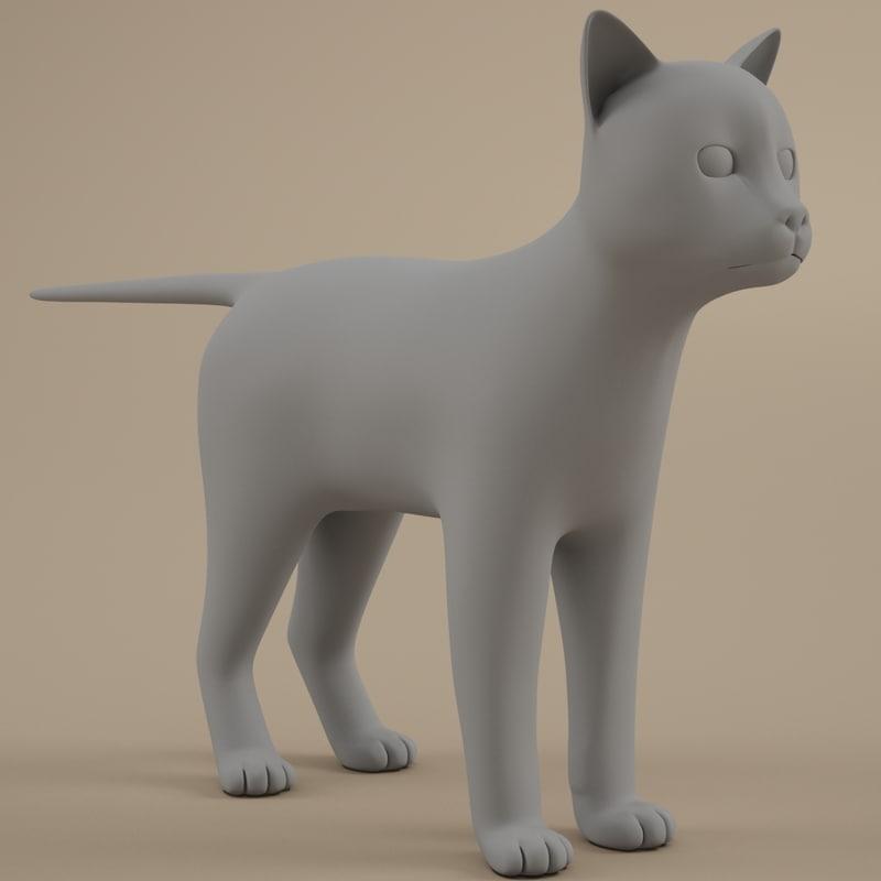 3d model of cats feline