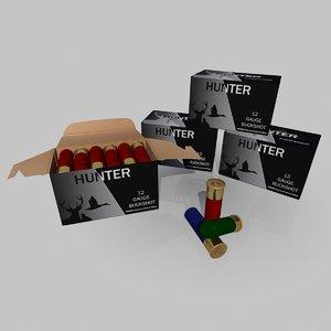 shotgun shells 3d model