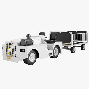 aircraft tow tractor 3d max