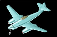 messerschmitt me-262 fighter aircraft 3d model