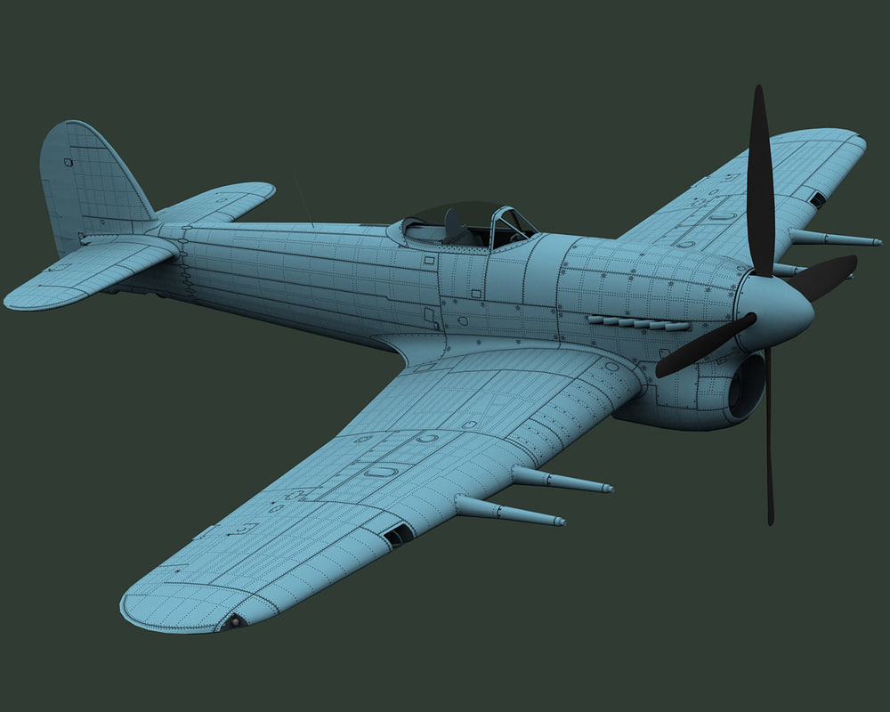 3d hawker typhoon mk ib model