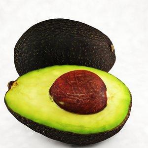 3d avocado slice model