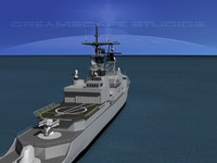 3d model kidd class destroyer