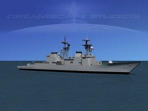 3d kidd class destroyer