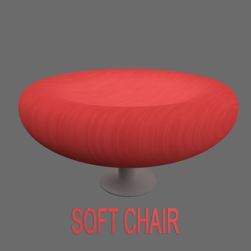 3d small cup shaped chair
