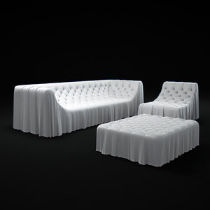 3d busnelli-bohemien-sofa model