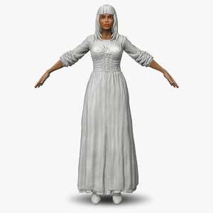 3d zbrush women medieval peasant model