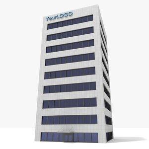 obj generic building -