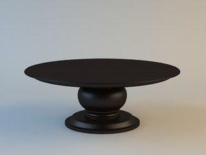 3dsmax table set pelleas angelo cappellini