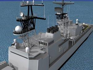 3d model destroyers class spruance