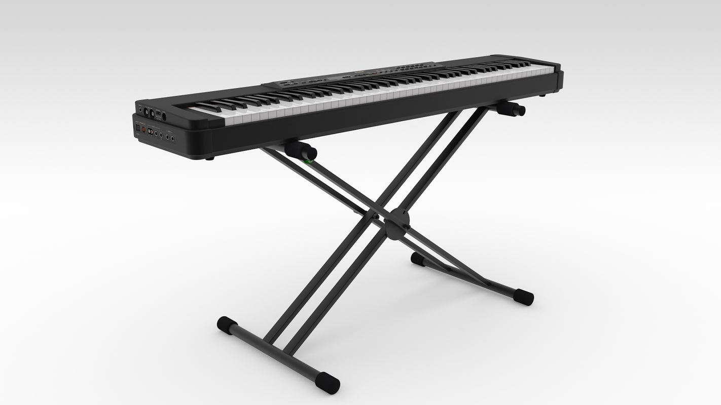3d model yamaha stage-piano p-90 keyboard