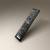 3d model sony bravia tv remote