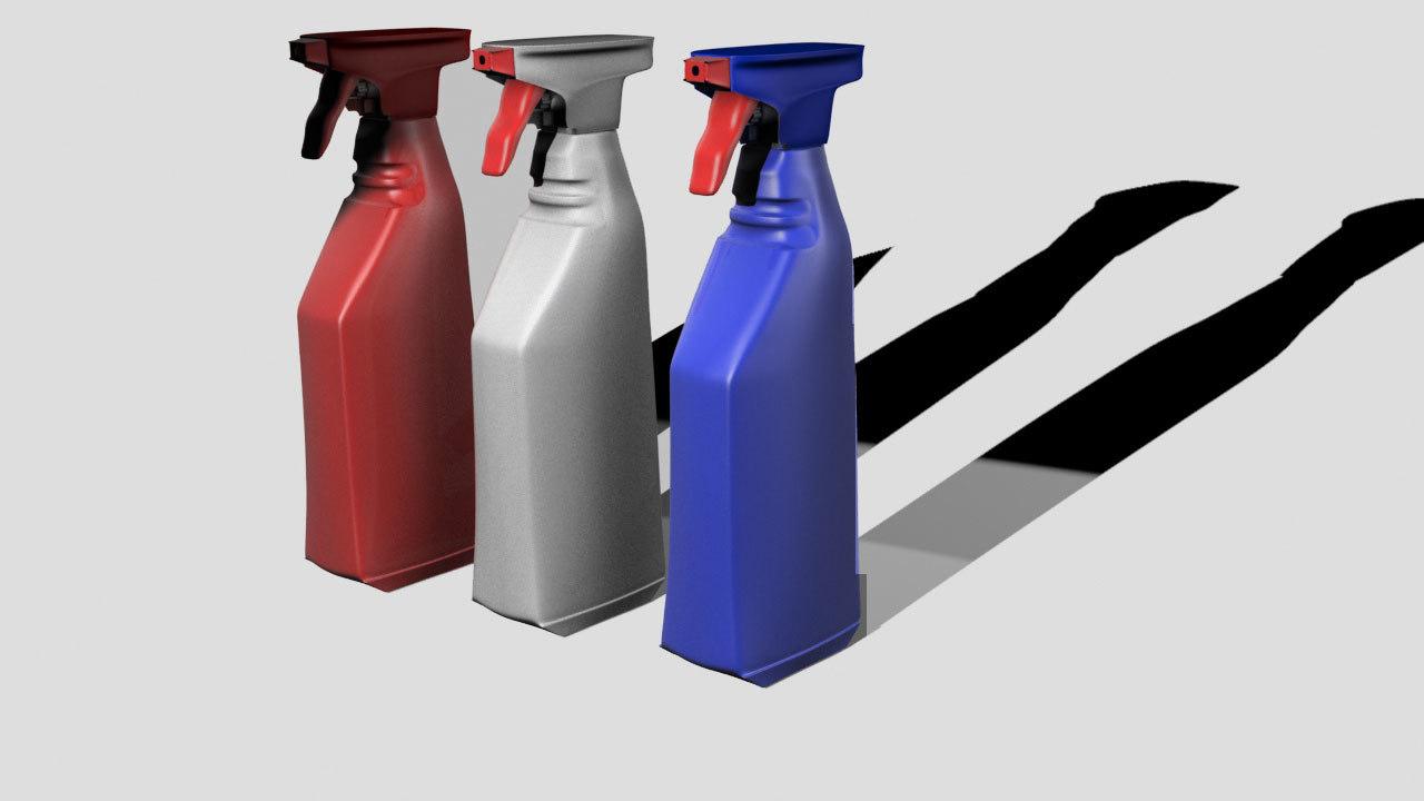 free spray bottle 3d model