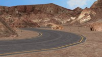 3ds max road mountains -