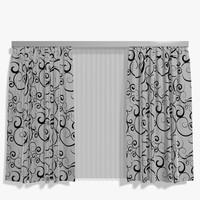 3d curtains 001 model