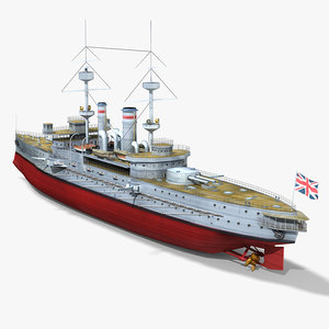 hms goliath 1898 world war 3d max