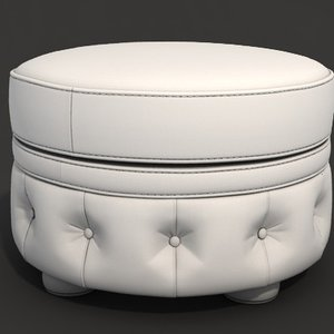 ottoman modeled seams 3D model