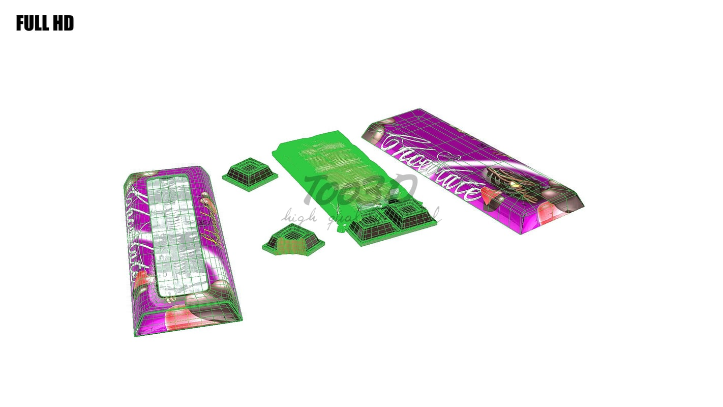 3d chocolate bar set
