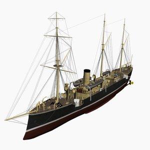 3d model sperber cruiser imperial german