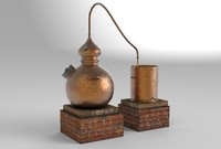 antique brewing 3d obj
