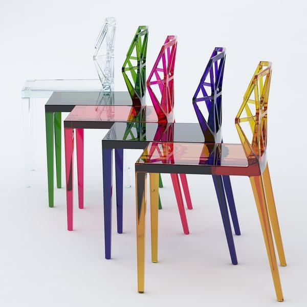 alchemia chair calligaris 3d max