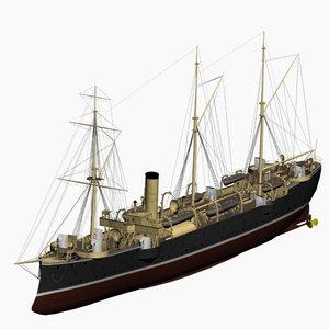 cormoran cruiser imperial german 3d max