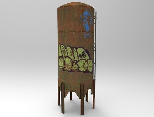 ramshackle vertical tank obj