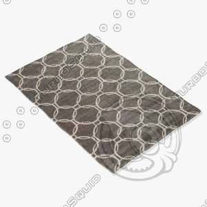 3d model jaipur rugs loe08