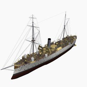 3d model geier cruiser uss schurz
