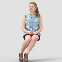 Anna Casual Sitting - 3D Human Model