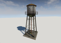 3ds max rusty water tower