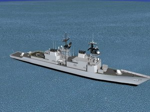 destroyers class spruance dd 3d model
