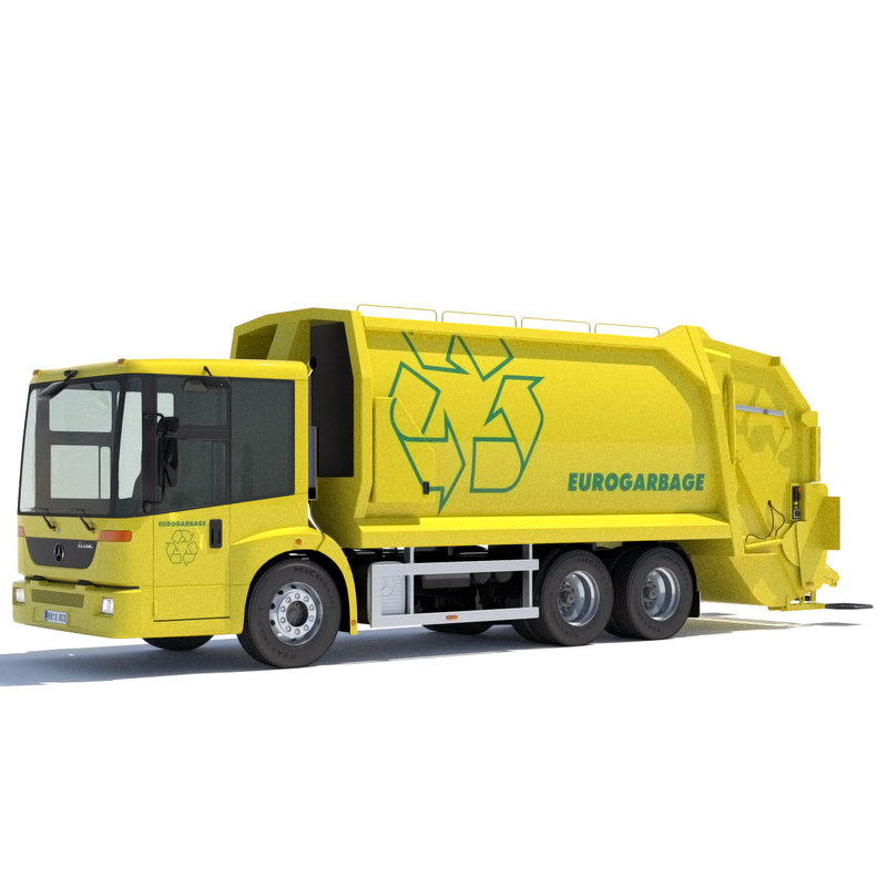 3d model mercedes econic garbage truck