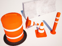 Traffic cone and blockers