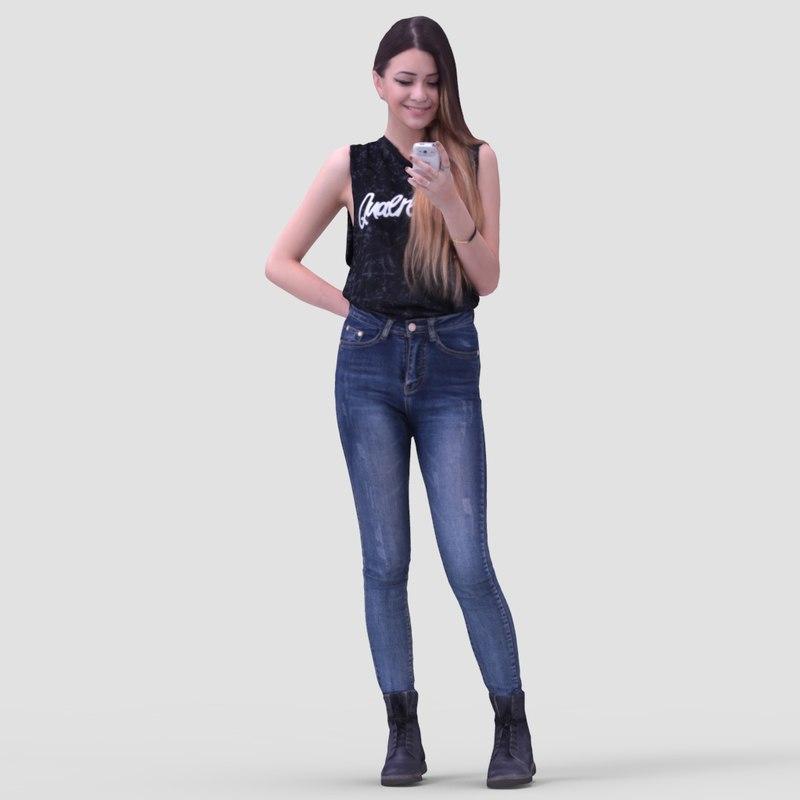 3d model of realistic human