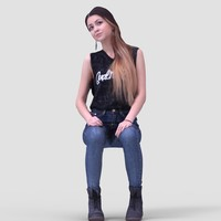 Julia Casual Sitting - 3D Human Model