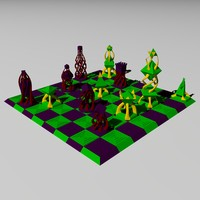 fanciful chess set 3d 3ds