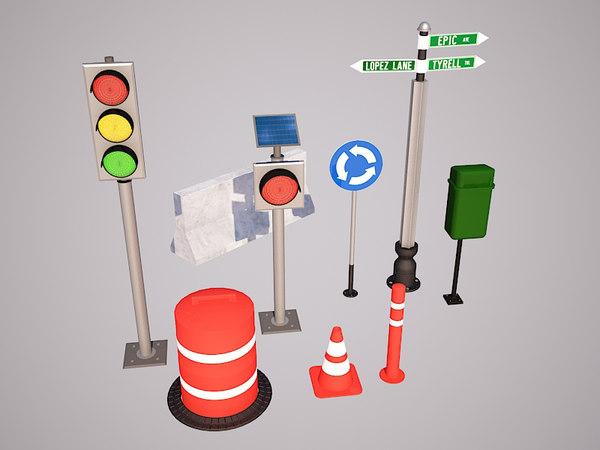 3ds street objects