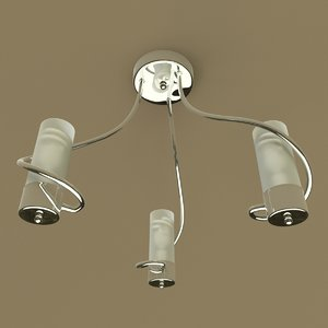 chrome ceiling light obj