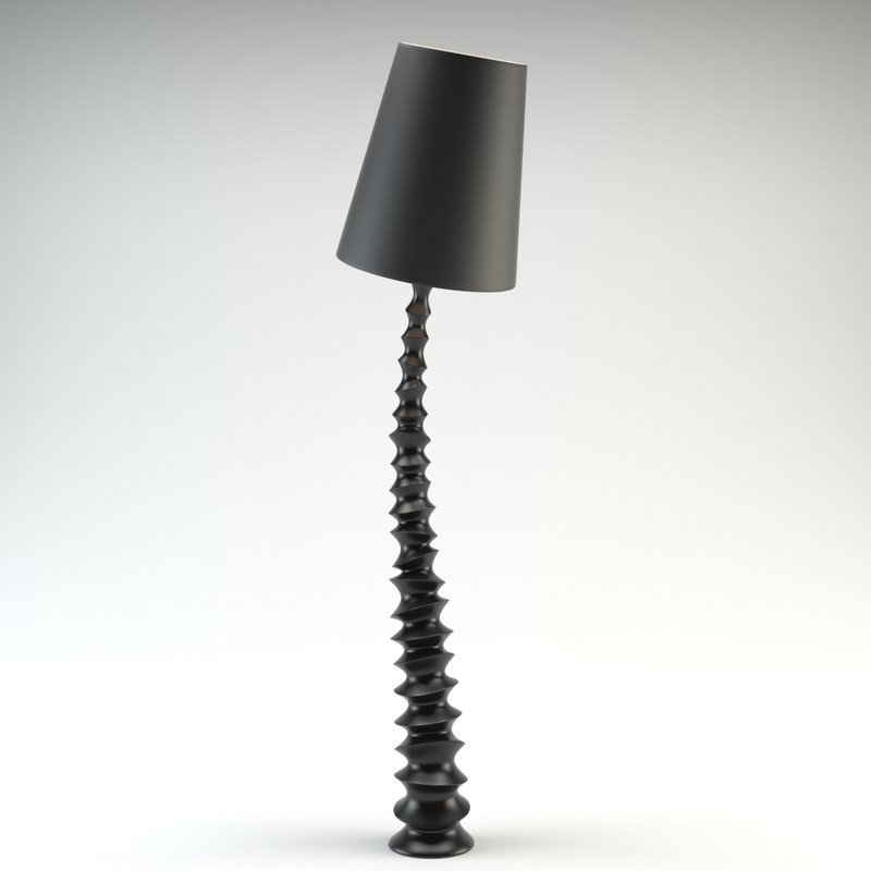 3ds max standing curved lamp