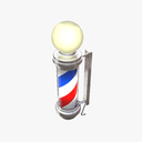 barber pole 3D models