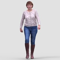 Donna Casual Walking - 3D Human Model