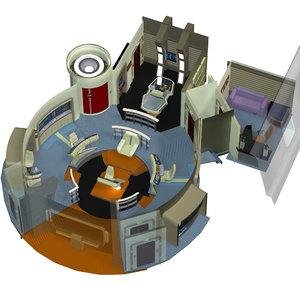 3d model starships bridge xt