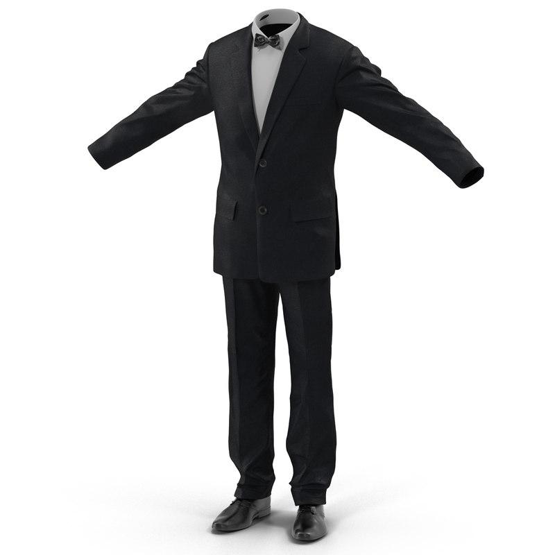 men suit 4 3d 3ds